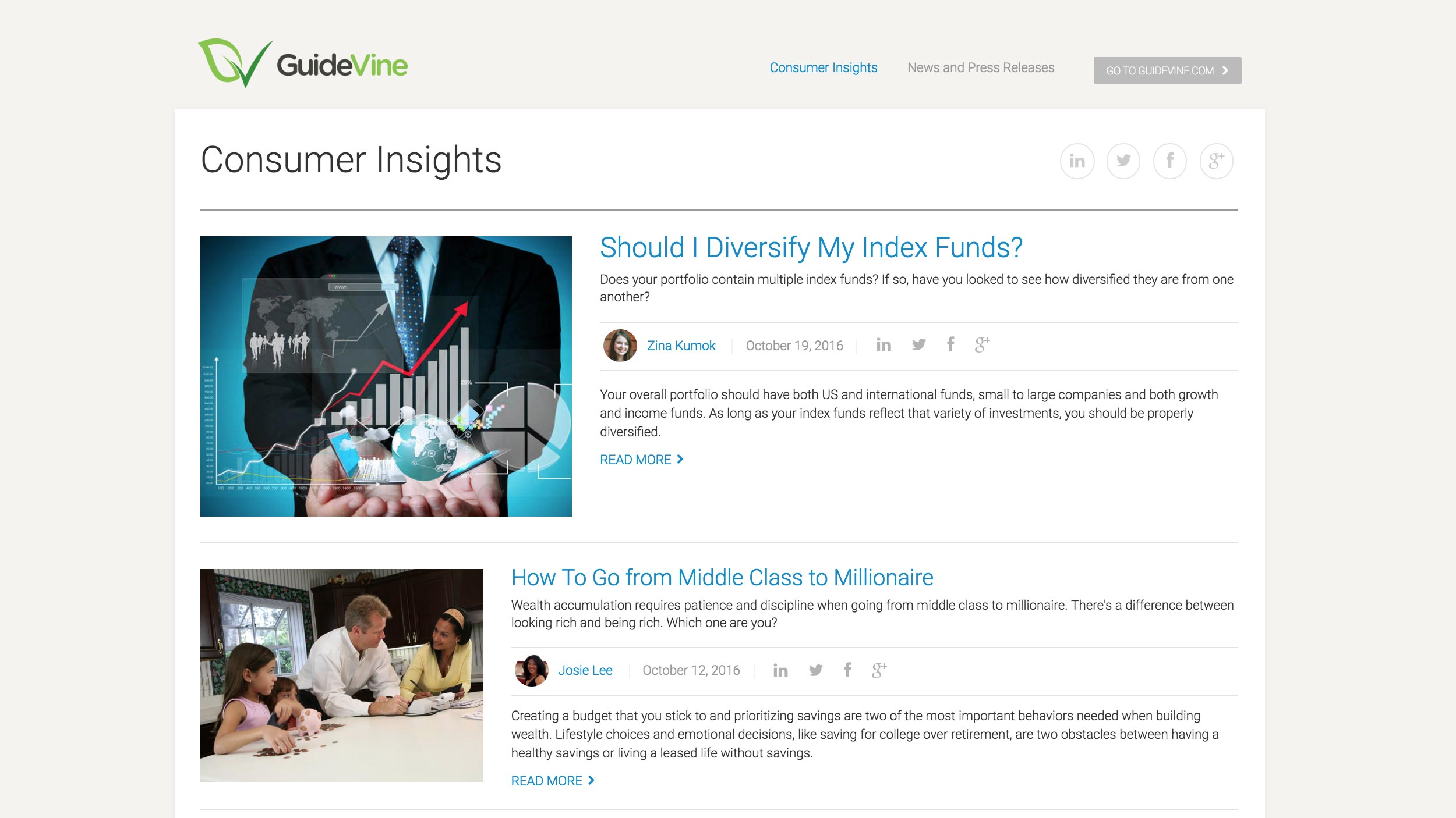 GuideVine blog page