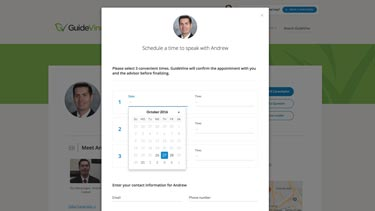 GuideVine schedule page